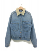 ISABEL MARANT ETOILE(イザベルマラン エトワール)の古着「刺繍ボアデニムジャケット」|ブルー