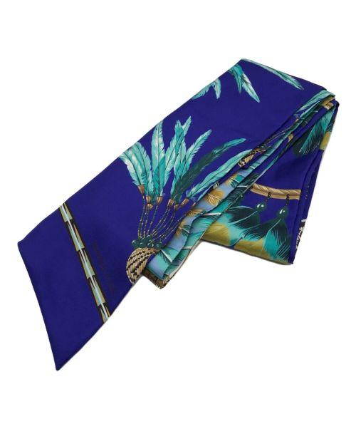 HERMES(エルメス)HERMES (エルメス) マキシツイリースカーフ ブルー サイズ:下記参照の古着・服飾アイテム