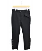Y's(ワイズ)の古着「ボタンスリットウールパンツ」|ブラック