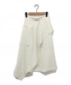 AKIRA NAKA(アキラ ナカ)の古着「アシンメトリースカート Robyn SK PU」|ホワイト