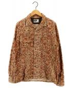 Engineered Garments(エンジニアドガーメンツ)の古着「ペイズリーコーデュロイシャツ」|ブラウン