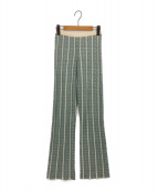 TODAYFUL(トゥデイフル)の古着「ニットパンツ」|グリーン