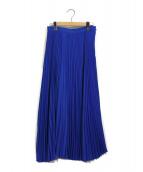 cen.(セン)の古着「ロングプリーツスカート」|ブルー