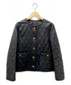 IENA LA BOUCLE(イエナ ラ ブークル)の古着「シープレザーキルティングジャケット」 ブラック