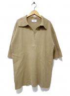 CLANE(クラネ)の古着「BIG POLO KNIT TOPS」|ブラウン