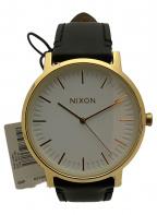 NIXON(ニクソン)の古着「PORTER LEATHER GOLD/BLACK JP」