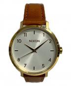 NIXON(ニクソン)の古着「ARROW LEATHER GOLD/WHITE/SADDL」