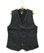 ORGUEIL(オルゲイユ)の古着「Work Wear Gilet」|ブラック