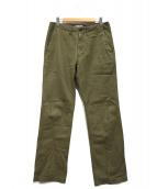 ORGUEIL(オルゲイユ)の古着「Wide Work Pants」|オリーブ
