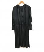 UNTITLED(アンタイトル)の古着「カシュクール風ドレス」|ブラック