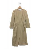 CELFORD(セルフォード)の古着「タックタイトワンピース」 ベージュ