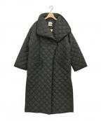 toteme(トーテム)の古着「キルティングパテッドロングコート」|ブラック