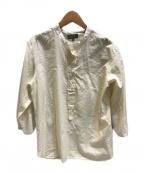 MARGARET HOWELL()の古着「COTTON SILK CHAMBRAY」|ホワイト