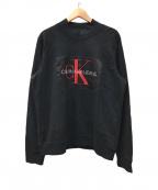 Calvin Klein Jeans(カルバンクラインジーンズ)の古着「ハイネックスウェット」|ブラック