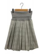 GUNEX for BRUNELLO CUCINELLI(グネックスフォーブルネロクチネリ)の古着「スカート」 グレー