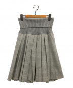 GUNEX FOR BRUNELLO CUCINELLI(グネックスフォーブルネロクチネリ)の古着「スカート」|グレー