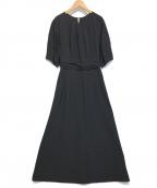 PUBLIC TOKYO(パブリックトウキョウ)の古着「ランダムタックフレアワンピース」|ブラック