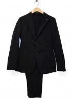 TAGLIATORE(タリアトーレ)の古着「シングルドローコードセットアップスーツ」 ブラック