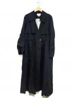 H.STANDARD()の古着「ロングコート」|ブラック