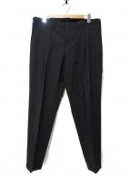 JOSEPH HOMME(ジョセフオム)の古着「シャドウジャガードタックパンツ」|ブラック