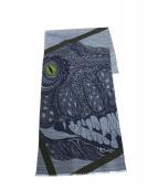 HERMES(エルメス)の古着「T-Rexスカーフ」|グレー×ネイビー