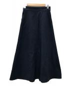 VERMEIL par iena(ヴェルメイユ パー イエナ)の古着「20SS ドビーストレッチロングスカート」|ネイビー