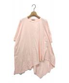VIKA GAZINSKAYA(ヴィカ ガジンスカヤ)の古着「アシンメトリーオーバサイズTシャツ」|ピンク