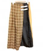 TELA(テラ)の古着「ラップスカート」|ブラウン