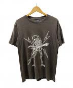 NUMBER (N)INE(ナンバーナイン)の古着「スカルギタープリントTシャツ」 ブラウン