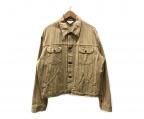UNUSED()の古着「ストライプトラッカージャケット」|ベージュ