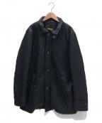MOORER(ムーレー)の古着「キルティングコート」 ブラック