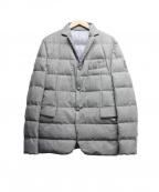 MONCLER GAMME BLEU(モンクレール ガム ブルー)の古着「袖ワッペンロゴダウンテーラードジャケット」|グレー
