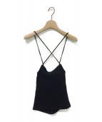 LEINWANDE(ラインヴァンド)の古着「Summer Jersey Camisole」|ブラック