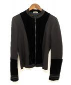 BOTTEGA VENETA(ボッテガヴェネタ)の古着「ベロア切替デザインジャケット」|ブラック