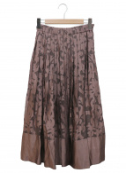 Mila Owen(ミラオーウェン)の古着「オパールプリーツスカート」|ブラウン