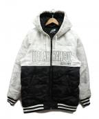 LEFLAH(レフラー)の古着「フーデッドダウンジャケット」|ホワイト×ブラック