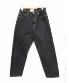 YAECA(ヤエカ)の古着「ワイドストレートデニムパンツ」|インディゴ