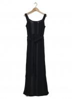 Ameri()の古着「LACE LIKE LONG KNIT DRESS」|ブラック