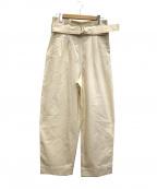 GANNI(ガニー)の古着「ベルテッドワイドパンツ」|ホワイト