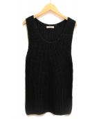 CELINE(セリーヌ)の古着「ノースリーブニット」|ブラック