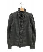 ()の古着「フリルシャツ」 グレー