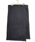 LEQUIPE YOSHIE INABA(レキップヨシエイナバ)の古着「ダウンマフラー」 ブラック