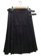 ONEIL OF DUBLIN(オニール オブ ダブリン)の古着「フリンジキルトスカート」|ブラック