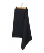 Y's(ワイズ)の古着「ラップスカート」 ブラック
