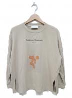 UNDERSON UNDERSON(アンダーソンアンダーソン)の古着「リラックスグラフィックTシャツ」|ライトベージュ