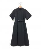 foufou(フーフー)の古着「ドイツメディカルハイネックドレス」 ブラック