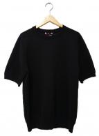 SLOANE(スローン)の古着「半袖ニット」|ブラック