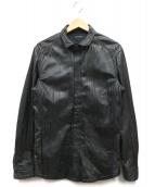 JOSEPH HOMME(ジョセフオム)の古着「レザーシャツジャケット」|ブラック