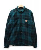 CARHARTT WIP(カーハート ワークインプログレス)の古着「プルフォードシャツジャケット」 グリーン