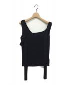 FRAY I.D(フレイアイディー)の古着「ワンショルセットニットトップ」|ブラック